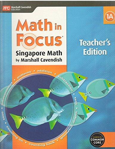 9780544193659: Math in Focus: Singapore Math: Teacher Edition, Book A Grade 1 2015