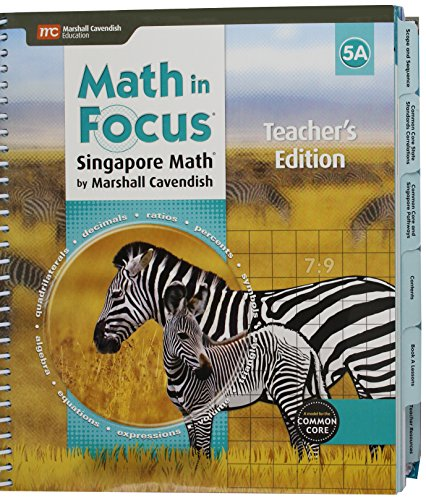 9780544193734: Math in Focus: Singapore Math: Teacher Edition, Book A Grade 5 2015