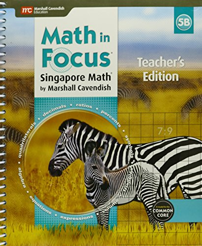 9780544193741: Math in Focus: Singapore Math: Teacher Edition, Book B Grade 5 2015