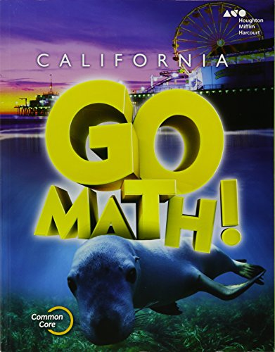 9780544203839: Houghton Mifflin Harcourt Go Math! California: Student Edition Grade 1 2015
