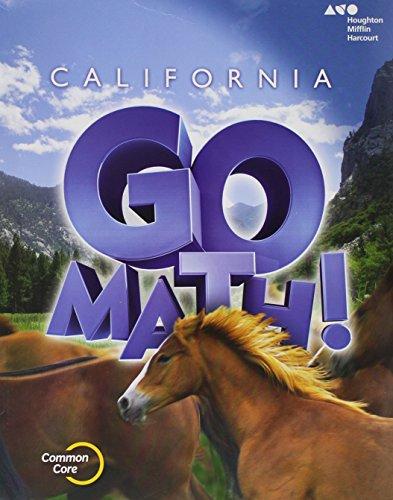 9780544204119: Houghton Mifflin Harcourt Go Math! California: Student Edition Grade 6 2015