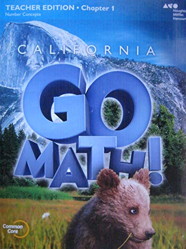 9780544205598: California Go Math! Teacher Edition, Chapter 1 Number Concepts (Grade 2)