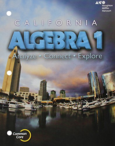 9780544206991: Holt McDougal Algebra 1 California: Student Interactive Worktext 2015