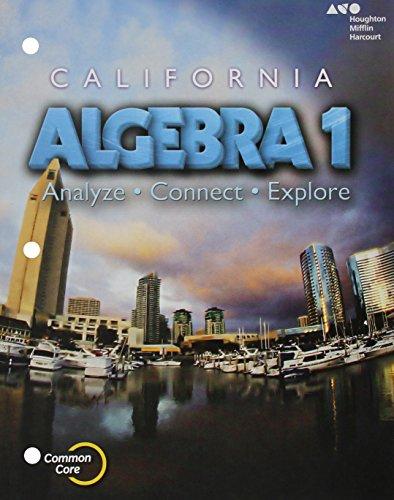 9780544206991: Holt McDougal Algebra 1 California: Student Interactive Worktext 2015