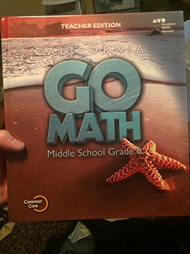 9780544207011: Holt McDougal Go Math! California: Teacher Edition Grade 6 2015