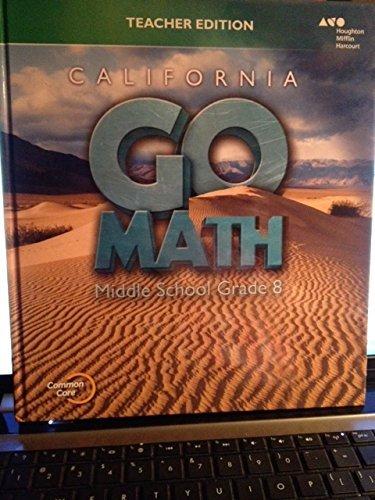 9780544207035: Go Math! California 2015, Grade 8: Teacher Edition
