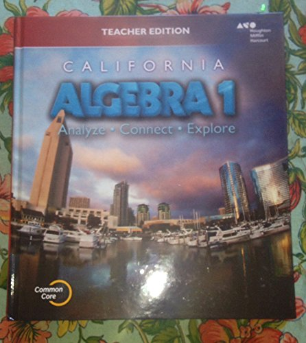 9780544207042: Holt McDougal Algebra 1 California: Teacher Edition 2015
