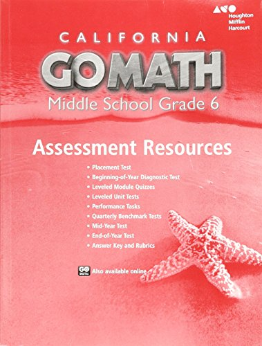 9780544207059: Holt McDougal Go Math! California: Assessment Resource with Answers Grade 6