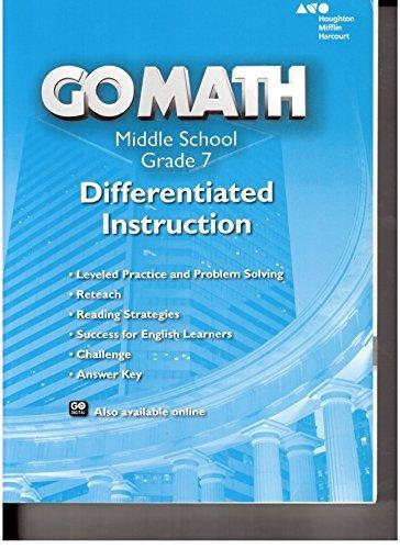 9780544207202: Holt McDougal Go Math! California: Differentiated Instruction Resource Grade 7