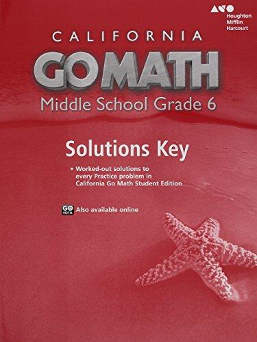 9780544207226: Holt McDougal Go Math! California: Solution Key Grade 6