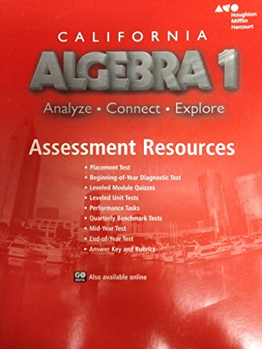 9780544207257: Holt McDougal Algebra 1 California: Assessment Resources
