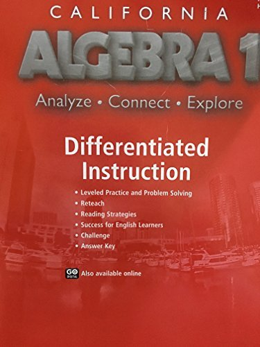 9780544207264: Holt McDougal Algebra 1 California: Differentiated Intructions Resources