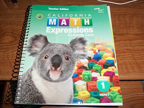 9780544208568: Houghton Mifflin Harcourt Math Expressions California: Teacher Edition, Volume 2 Grade 1 2015