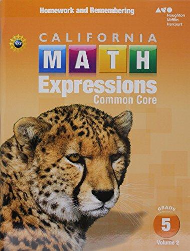 9780544211407: Houghton Mifflin Harcourt Math Expressions California: Homework and Remembering Workbook, Volume 2 Grade 5