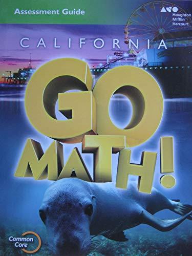 9780544212909: Houghton Mifflin Harcourt Go Math! California: Assessment Guide Blackline Masters Grade 1