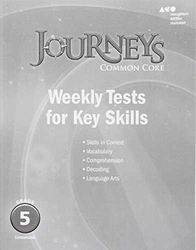9780544226074: Journeys: Common Core Weekly Assessments Grade 5