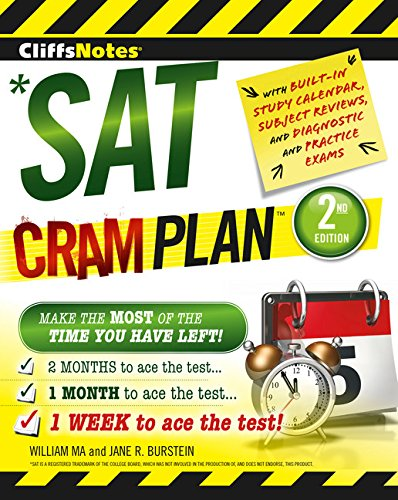 Stock image for CliffsNotes SAT Cram Plan 2nd Edition for sale by Your Online Bookstore