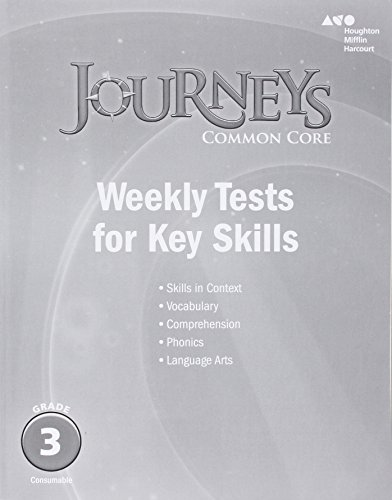 9780544230262: Journeys: Common Core Weekly Assessments Grade 3