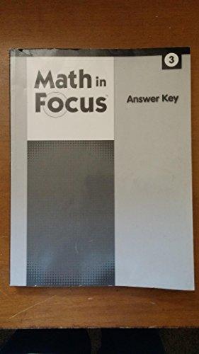 Math In Focus Calvert Answer Key Grade 3 By HOUGHTON