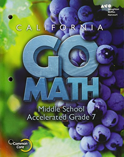9780544247963: Holt Mcdougal Go Math! 2015, Accelerated Grade 7: Interactive Worktext, California Edition
