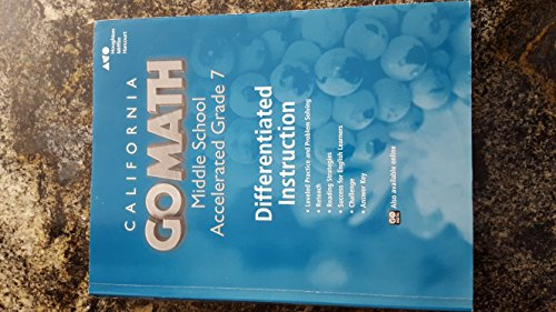 9780544248007 Holt Mcdougal Go Math California Differentiated