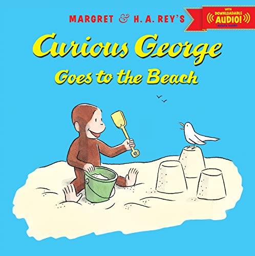 9780544250017: Curious George Goes to the Beach with downloadable audio