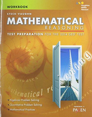 9780544274341: Steck-Vaughn GED: Test Preparation Student Workbook Mathematical Reasoning