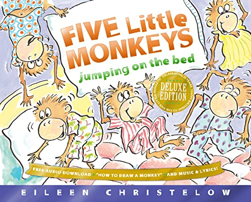 9780544283299: Five Little Monkeys Jumping on the Bed 25th Anniversary Edition