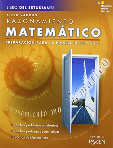 9780544301283: Steck-Vaughn GED: Test Prep 2014 GED Mathematical Reasoning Spanish Student Edition 2014 (Spanish Edition)