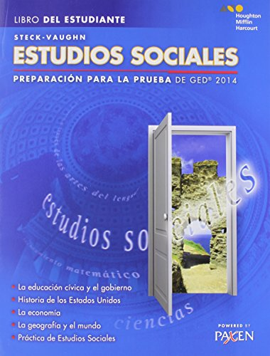 9780544301306: Steck-Vaughn Estudios Sociales: Preparacion para la prueba de GED 2014 (Libro Del Estudiante)