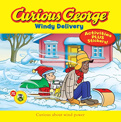 Curious George Windy Delivery (CGTV 8x8 w/stickers): H. A. Rey