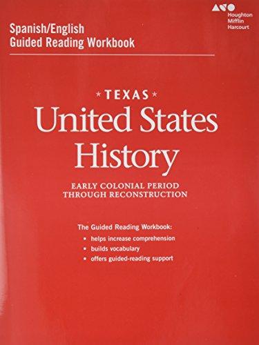 9780544326705: United States History Texas Guided Reading Workbook: Early Colonial Period Through Reconstruction
