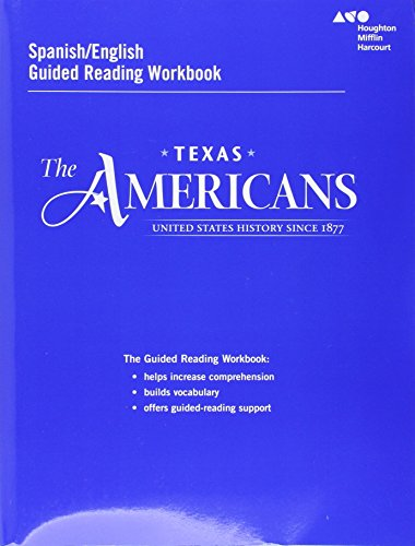 9780544326729: The Americans Texas: Spanish/English Guided Reading Workbook United States History Since 1877