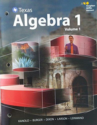 9780544346734: HMH Algebra 1 Texas: Interactive Student Edition Volume 1 2016
