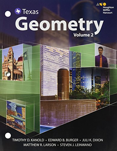 9780544353893: HMH Geometry Texas: Interactive Student Edition Volume 2 2016