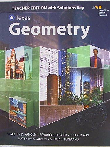 Geometry Texas Teachers Edition AbeBooks