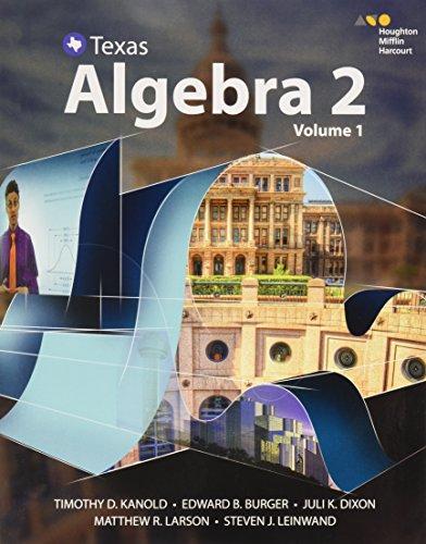 9780544353930: HMH Algebra 2 Texas: Interactive Student Edition Volume 1 2016