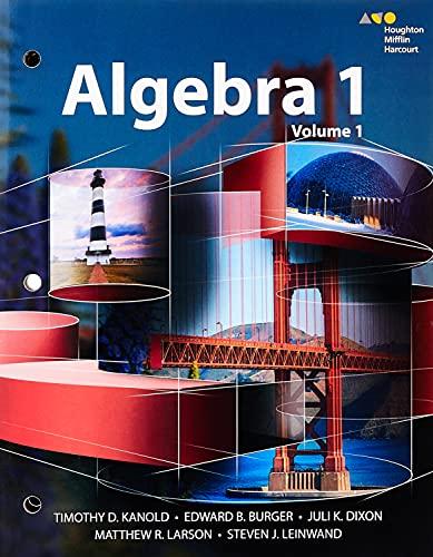 9780544368170: HMH Algebra 1: Interactive Student Edition Volume 1 2015