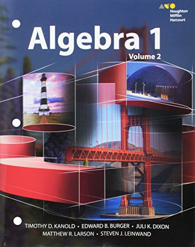9780544368187: HMH Algebra 1: Interactive Student Edition Volume 2 2015