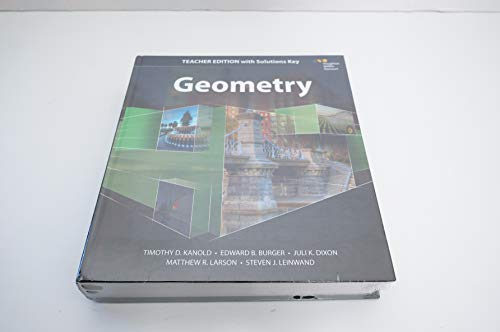 9780544385825: HMH Geometry: Teacher Edition with Solutions 2015