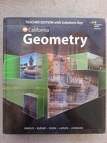 9780544385870: HMH Geometry California: Teacher Edition with Solutions 2015