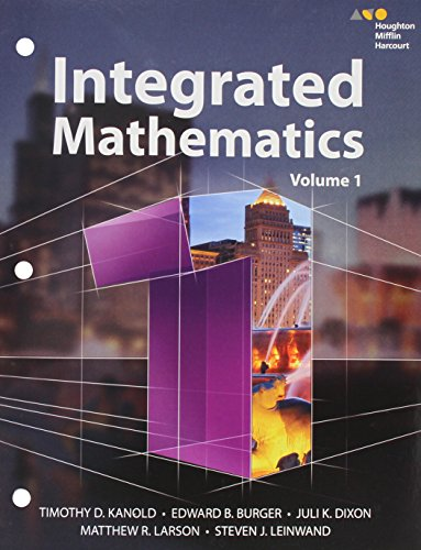 HMH Integrated Math 1: Interactive Student Edition Volume 1 (consumable) 2015: HARCOURT, HOUGHTON ...