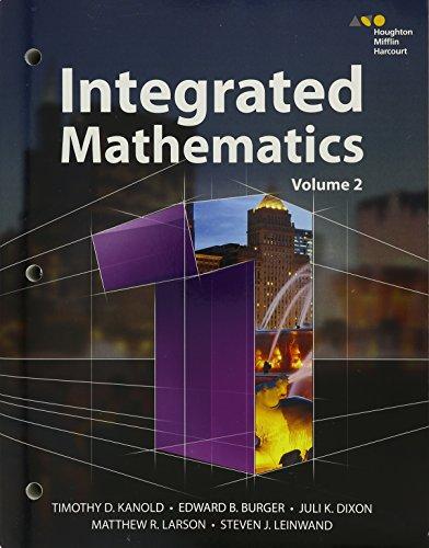 HMH Integrated Math 1: Kanold, Timothy; Burger,