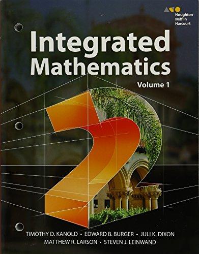 9780544389830: Hmh Integrated Math 2: 1