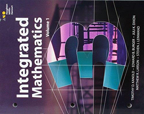 HMH Integrated Math 3: Interactive Student Edition: Kanold, Burger, Dixon,