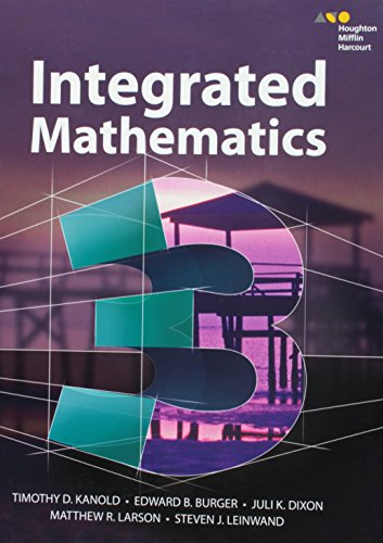 9780544389908: HMH Integrated Math 3: Student Edition 2015