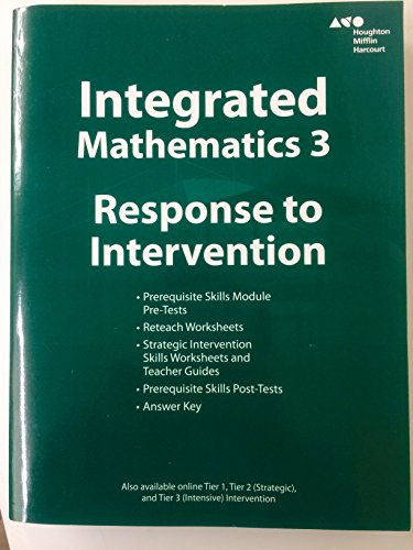 9780544389922 Hmh Integrated Math 3 Response To