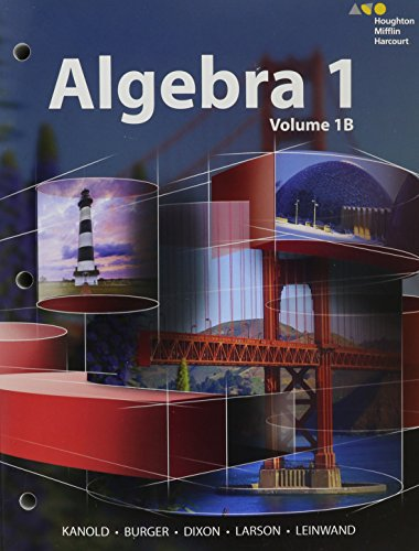 HMH Algebra 1: Interactive Student Edition Mini-Volume: Kanold.Burger.Dixon.Larson. Leinwand