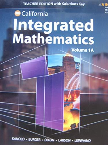 9780544441385: HMH Integrated Math 1 California: Teacher Edition Mini-Volume 1A 2015