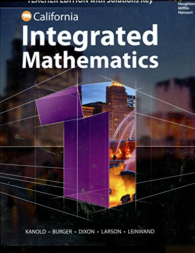9780544441507: Integrated Mathematics California TE with Key